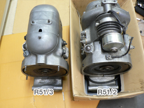 Compared the crankcases of R51/3 and R51/2